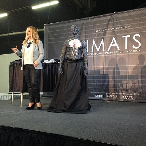 2014 NYC IMATS demoing for her upcoming book 'We The Painted'