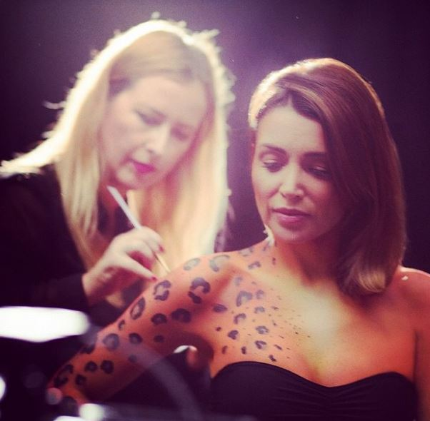 Hair, Makeup and Body Art for Dannii Minogue - Invisible Zinc