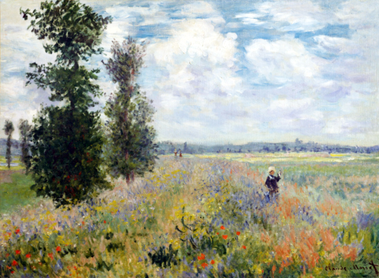 Poppy Fields near Argenteuil by Monet 1875