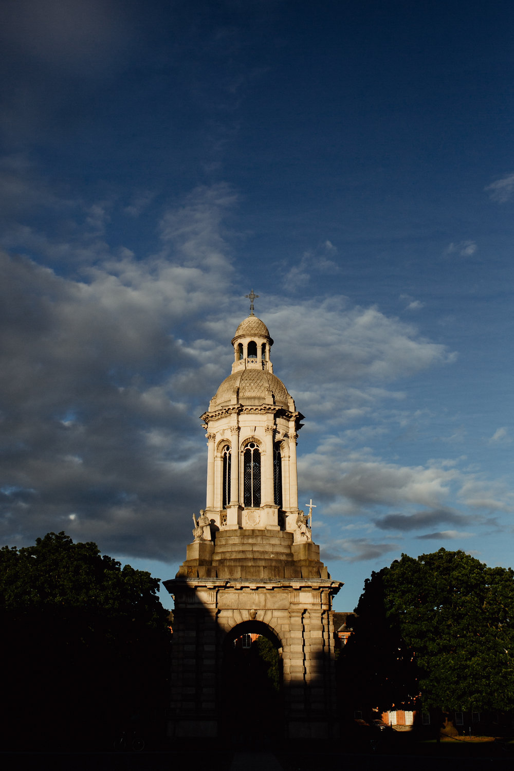 Trinity-College-Campanile-at-sunset