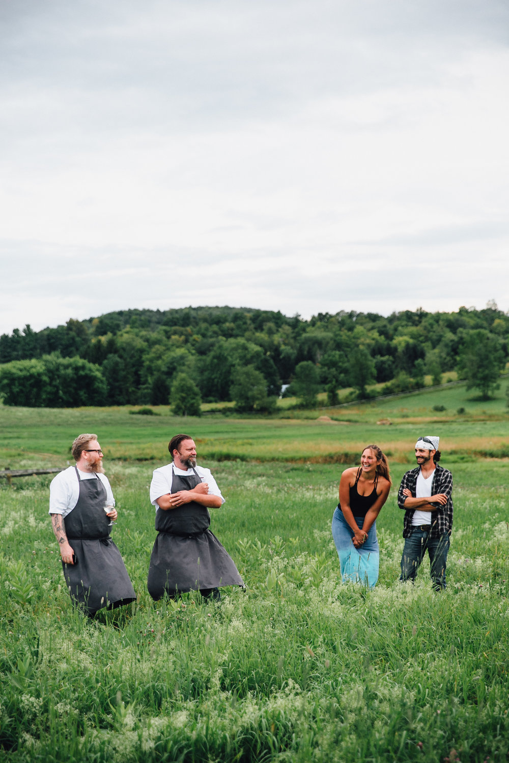 Outstanding in the Field at Beekman 1802 in Sharon Springs, New York with chef John McCarthy.