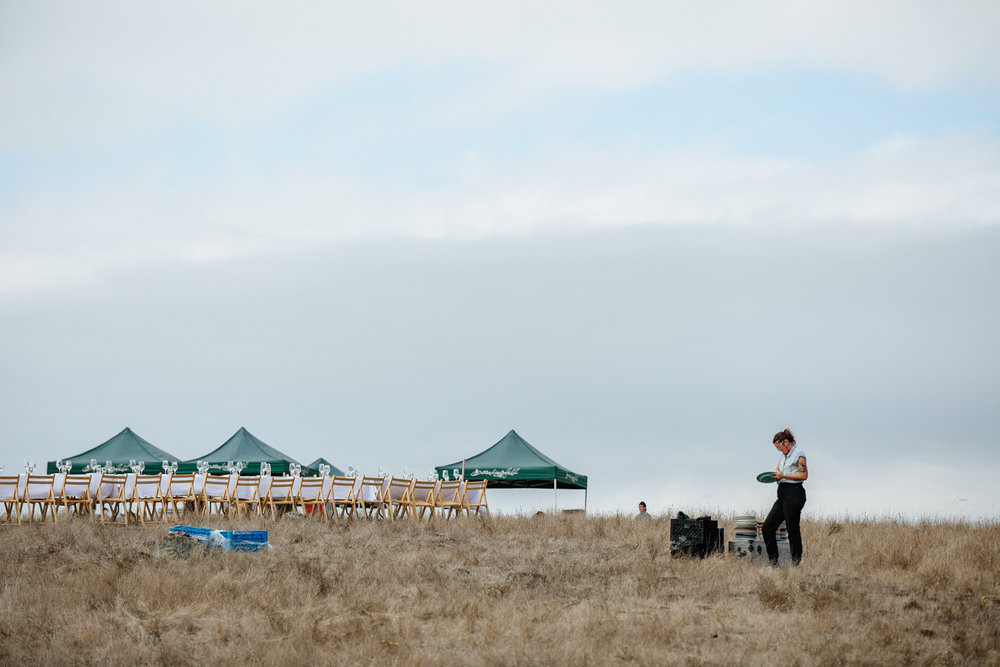 Outstanding in the Field at Marin Headlands in Jenner, California with Chef Ryan McIlwraith.