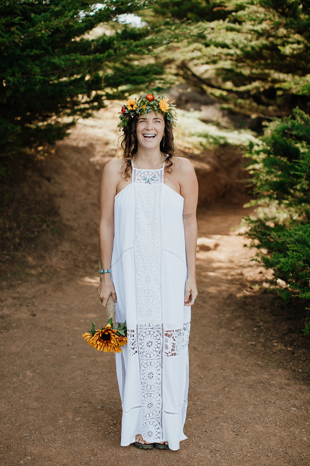 Rodeo Beach Bridal Portrait