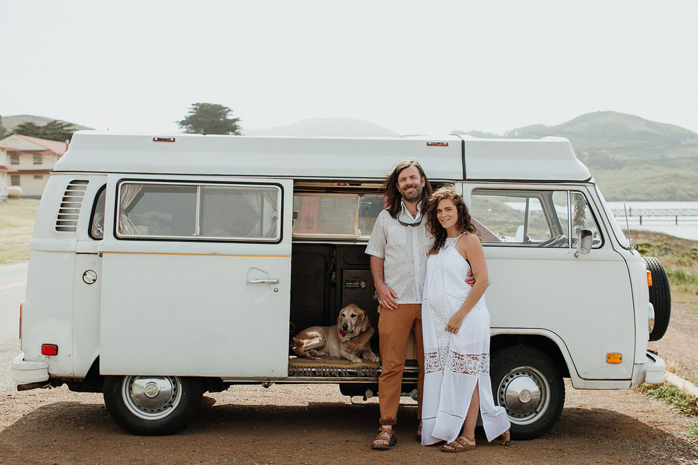 Marin Headlands VW Bus Wedding