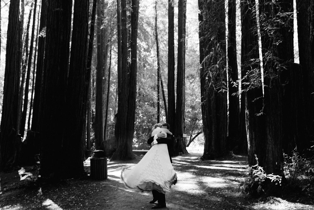 California Redwoods Wedding Portrait