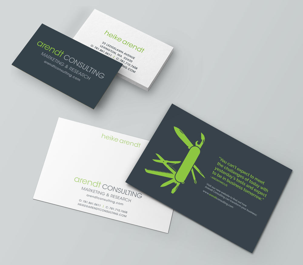 Arendt consulting brand identity business card website mailer arendt consulting business card notecard mockupg magicingreecefo Gallery