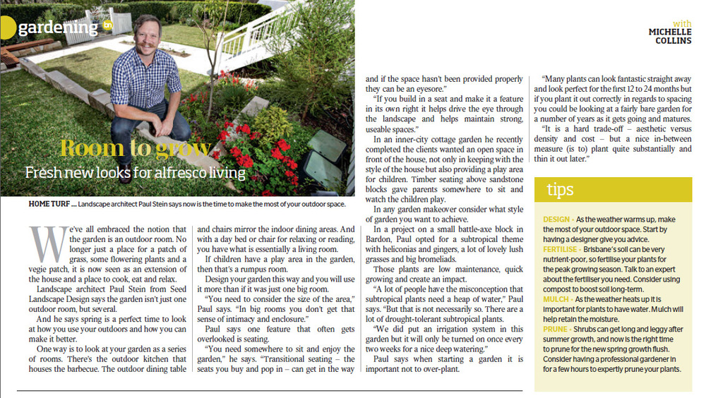 Brisbane news spring 2014 gardening tips seed for Gardening 101 australia
