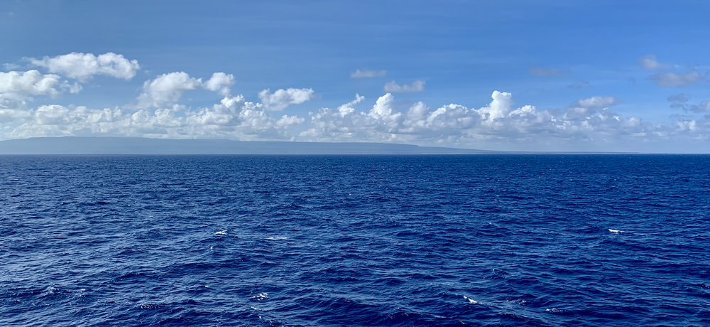 The view at sea.