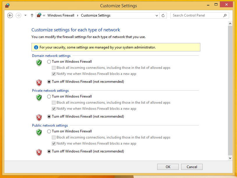 Back in the client, I install cain and abel and disable the windows defender features.