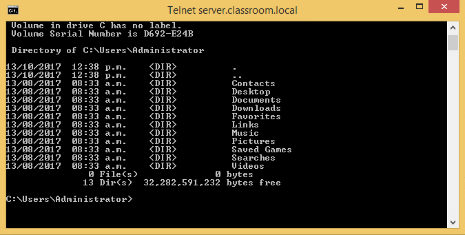 """And with some hiccups connect to server.classroom.local. I realised the last assignment was making issues for me, and the first step was to disconnect from the VPN connection. Once that didn't help I uninstalled the Remote access package from the server, restarted everything and was baffled to see that it still did not work. After a shot of espresso, and some time, I figured I enabled """"manual"""" in telnet server boot. Since I had restarted the server multiple times at this point, the server was off. I turned it on and it woorked immediately."""