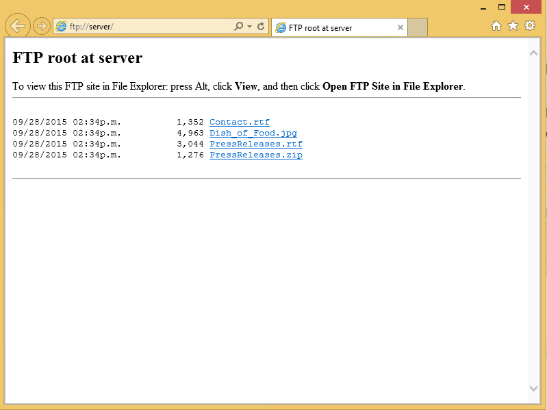 Starting sniffing and going to the ftp server