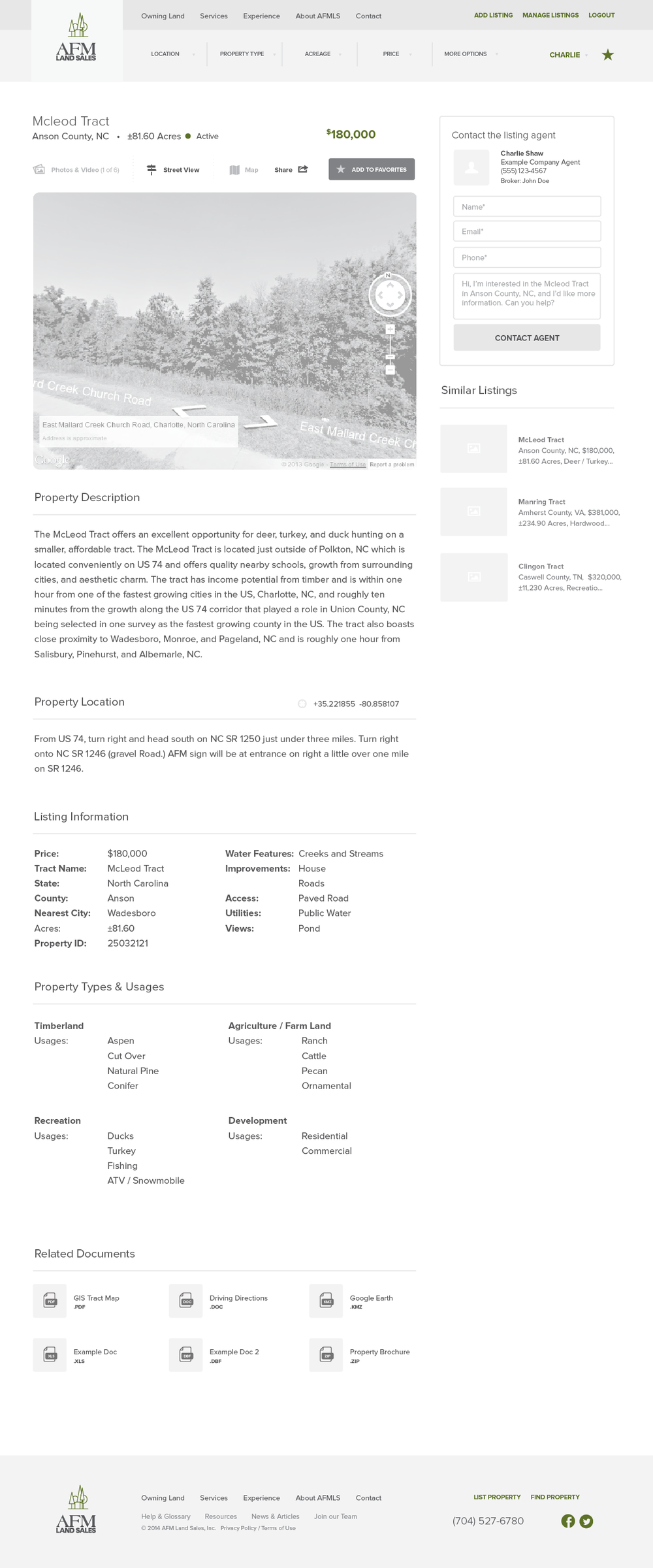 AFMLandSales-Wireframes_Signed In - Listing Page - Location Detail - Street.png