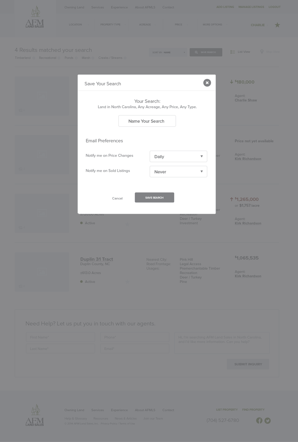 AFMLandSales-Wireframes_Signed In - Listing Page - Save Search.png