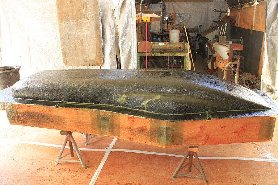 2012-08-29 09 body tooling 1st layup 1 ounce fiberglass mat.jpg