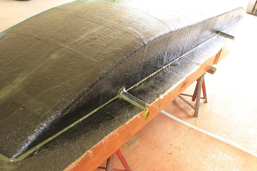 2012-08-29 10 body tooling 1st layup 1 ounce fiberglass mat.jpg