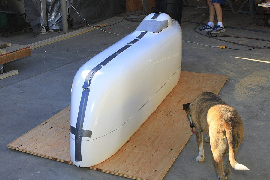 2012-09-02 16 streamliner body taped together.jpg