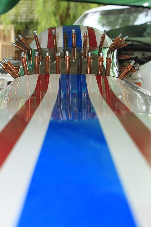 2012-09-09 13 streamliner body windshield Clecos.jpg
