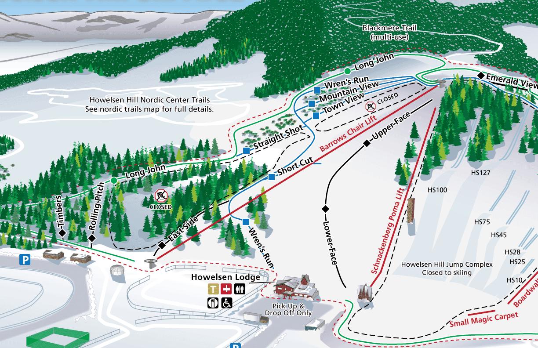 Trail Map - Howelsen Hill — skylark design