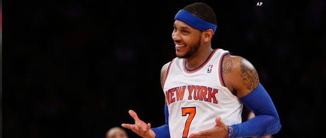 """We've got to be better at bringing energy. You can't teach that. You can't teach energy and effort."" --Carmelo Anthony"