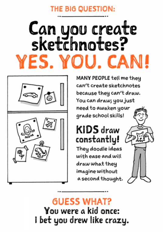 "A page of ""The Sketchnote Handbook"""