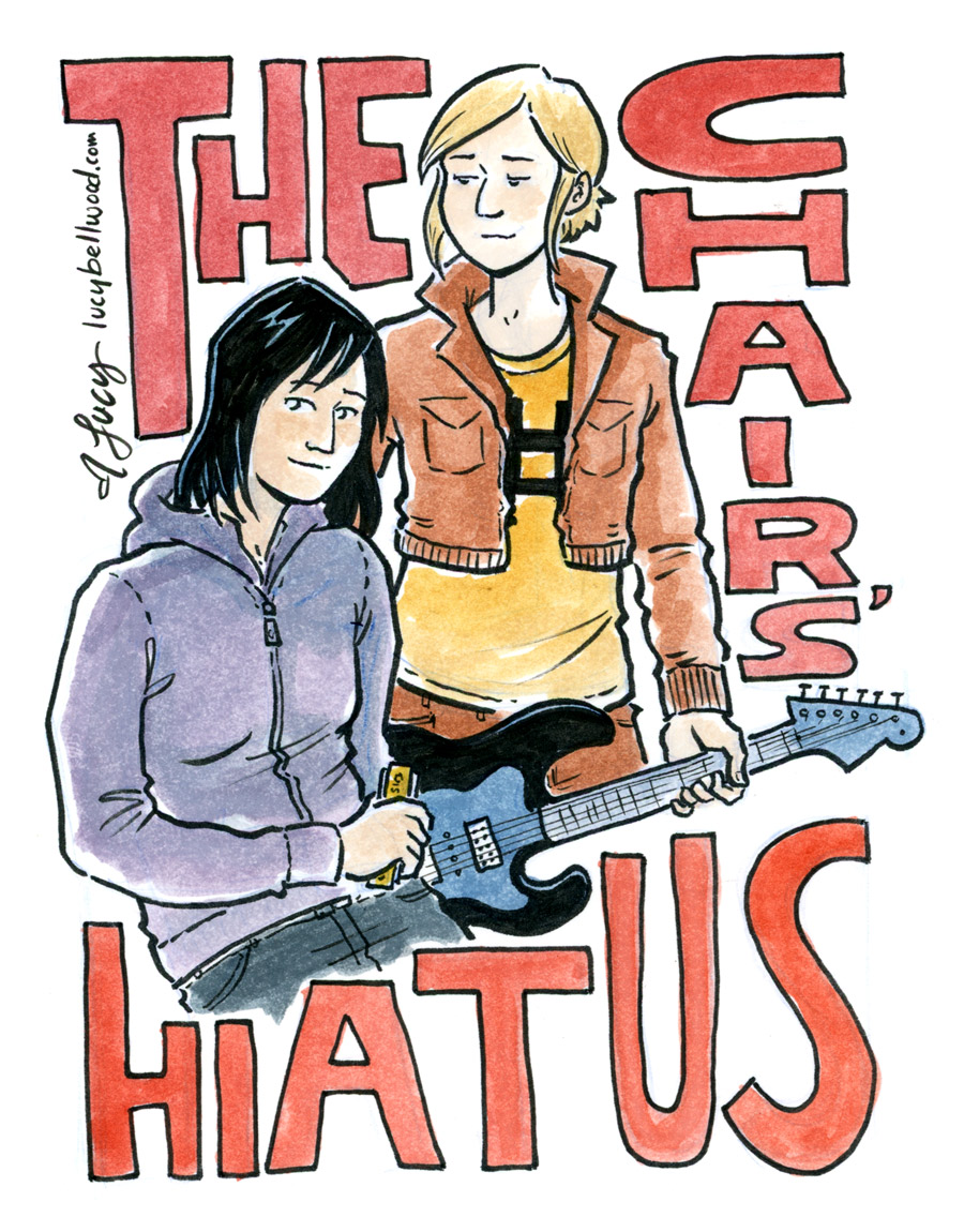 "The cover to ""The Chairs' Hiatus companion book""  by Lucy Bellwood"