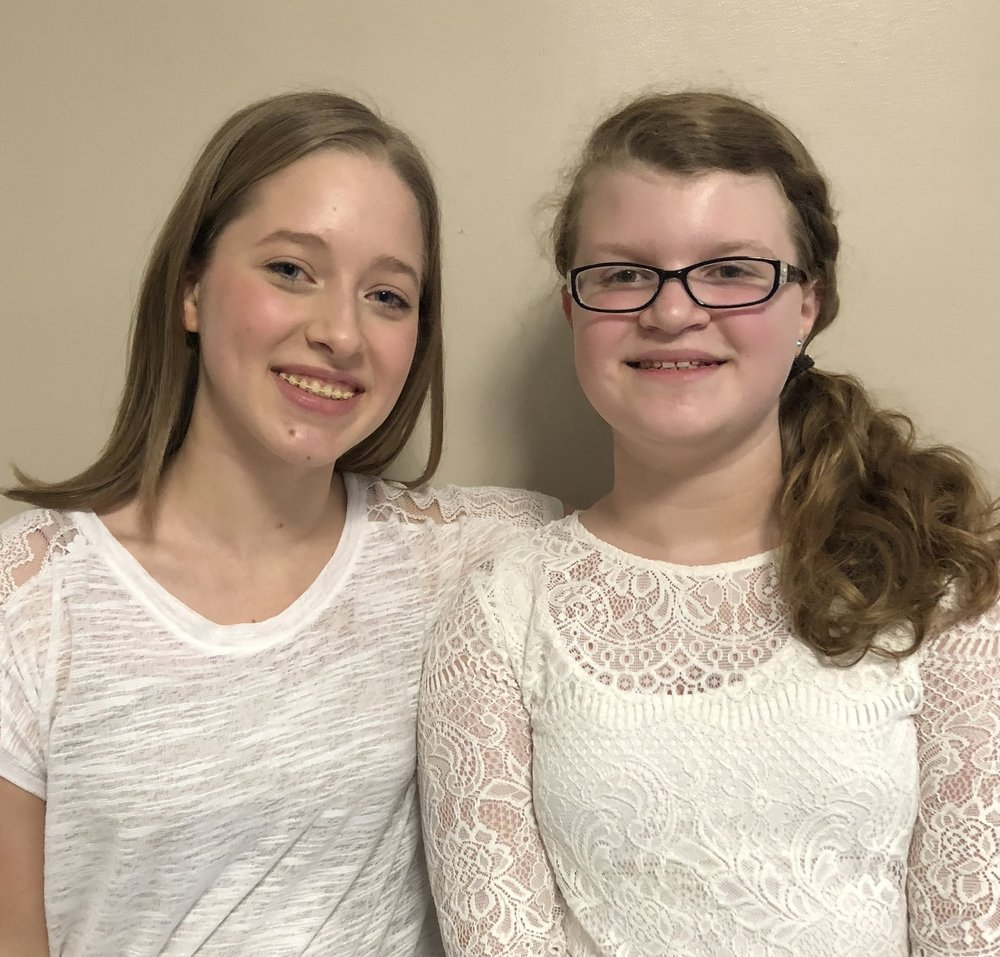 Charis Mace & Olivia Wilson - Charis and Olivia sang in the WVACDA Middle School / Jr. High All State Choir under the baton of Craig Dennison at the WVACDA Conference.