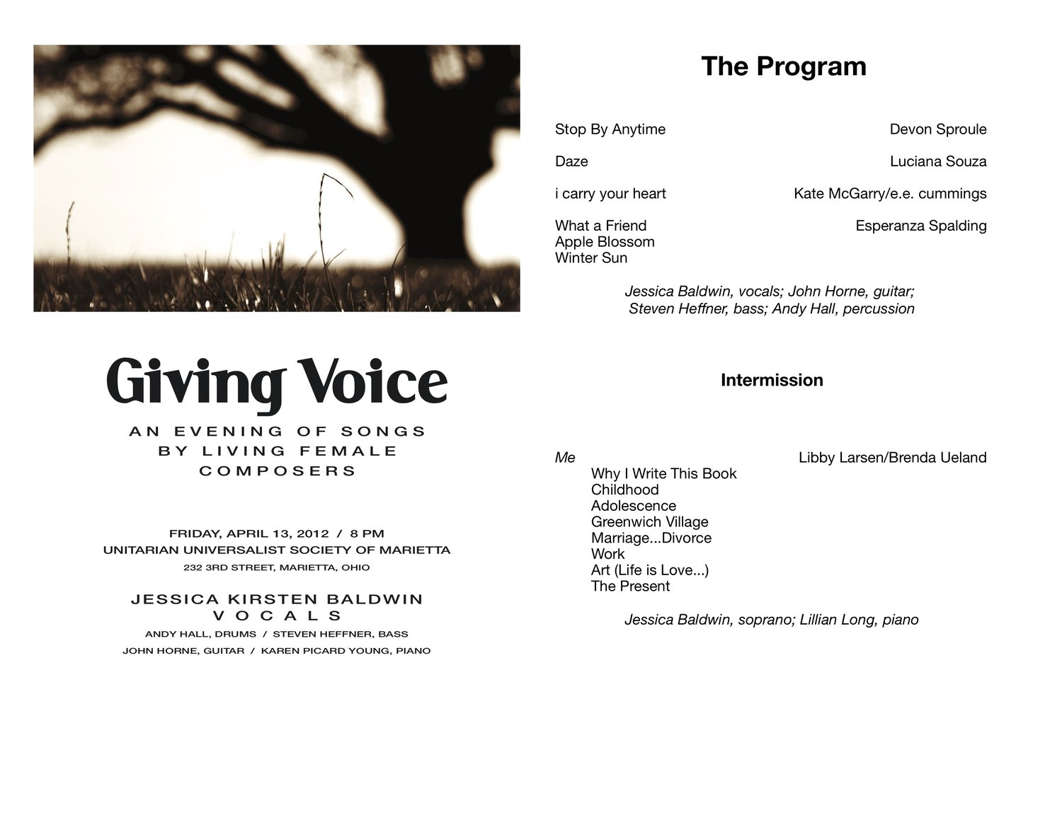 Giving Voice: An Evening of Song by Living Female Composers