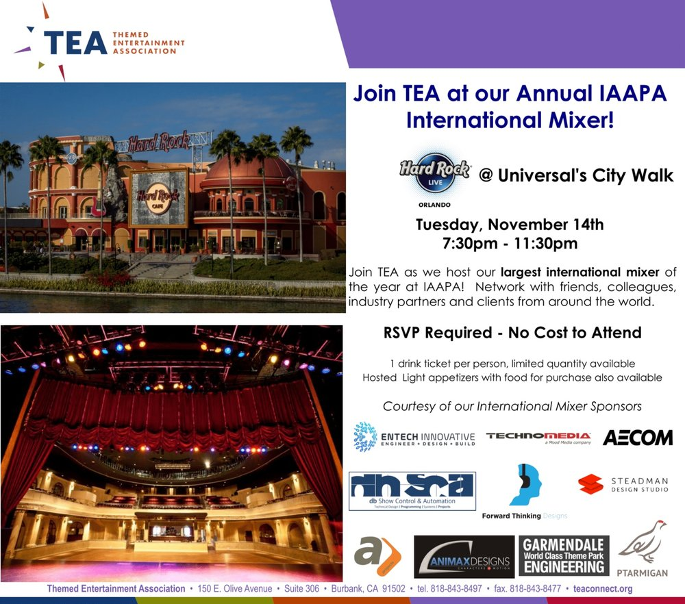 TEA IAAPA International Mixer 2017