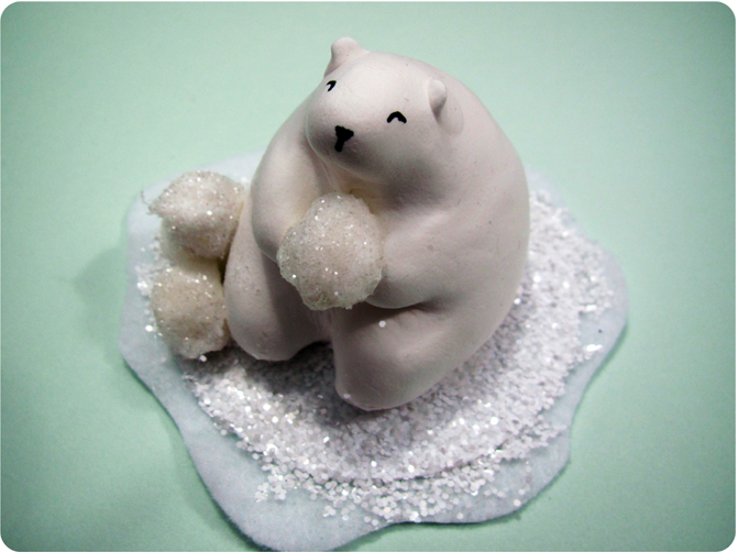 Clay Polar Bears & Igloo