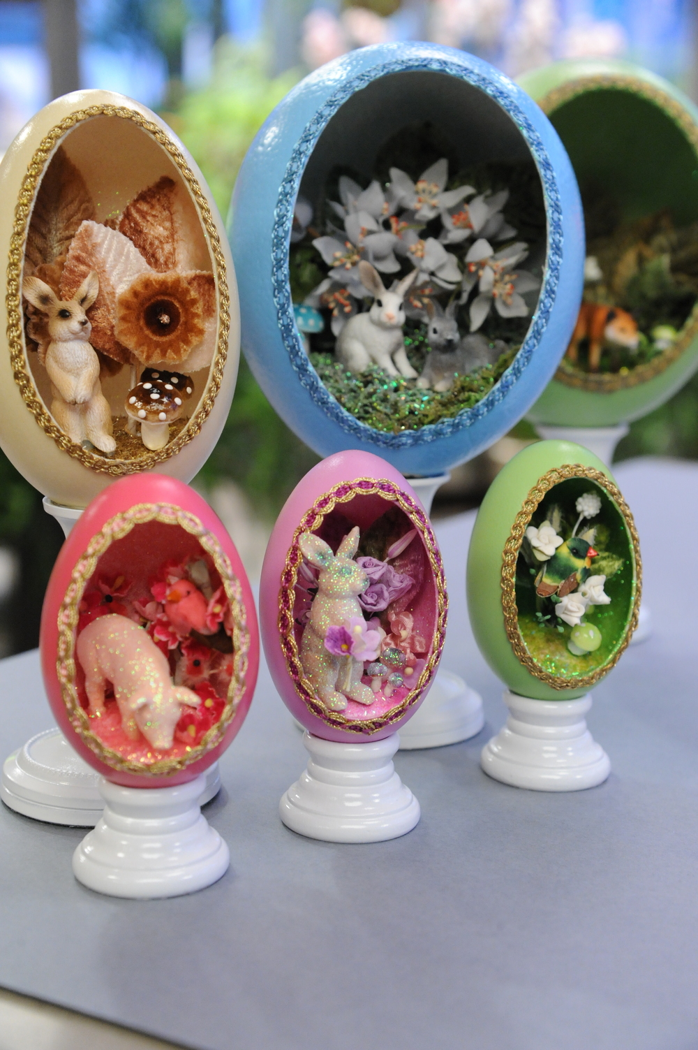 Whimsical Window Eggs