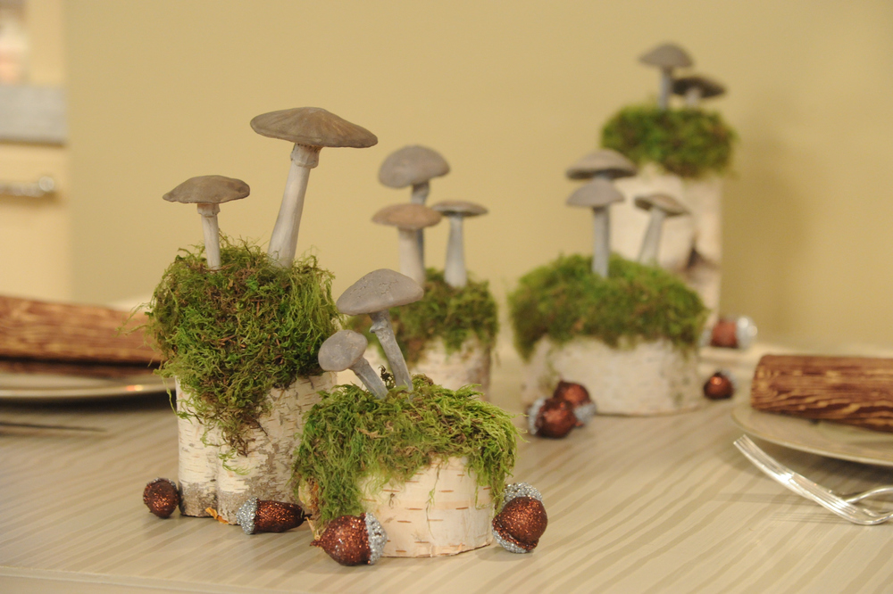 Clay Mushroom Table Decorations