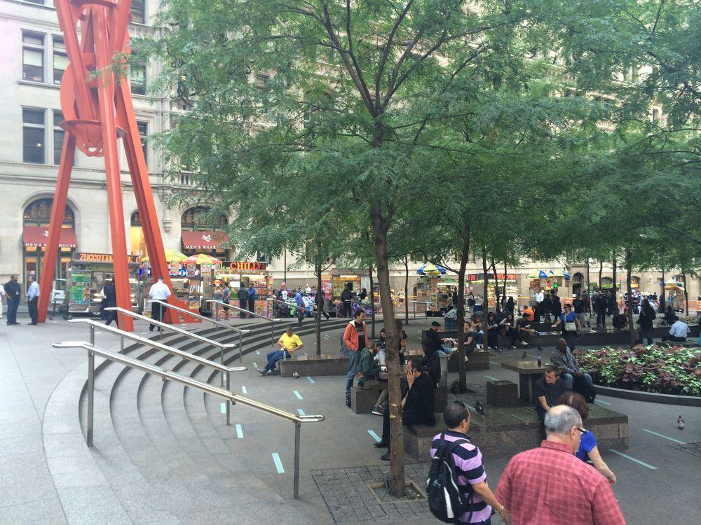 Zuccotti Park, three years later. September 2014.