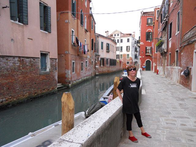 Gina in one of her favorite places in the world, Venice.  I was always so excited to she her wearing one of my nycsubwaygirl t-shirts.