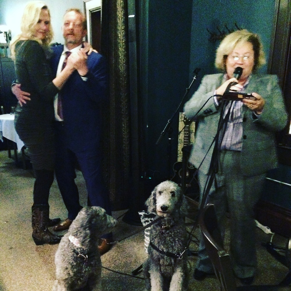 karaoke with new friends and poodles in Sioux Falls, SD