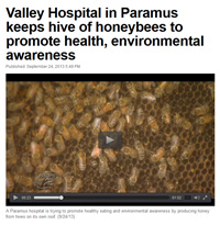 News 12 NJ - Valley Hospital Honey Harvest