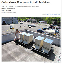 Cedar Grove Foodtown Installs Beehives