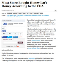 Most Store Bought Honey Isn't Honey According to the FDA, J