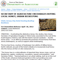 Urban Beekeeping, State of NJ Department of Agriculture