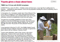 Toyota gives a buzz about bees... LaneReport.com