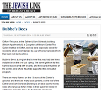 Bubbe's Bees, a program that is new this year; had bee hives installed in on the roof last spring.