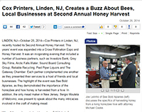 Cox Printers, LInden, NJ Creates a Buzz About Bees, Local Businesses at Second Annual Honey Harvest