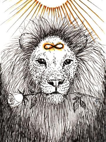 Strength card illustration by Kim Krans
