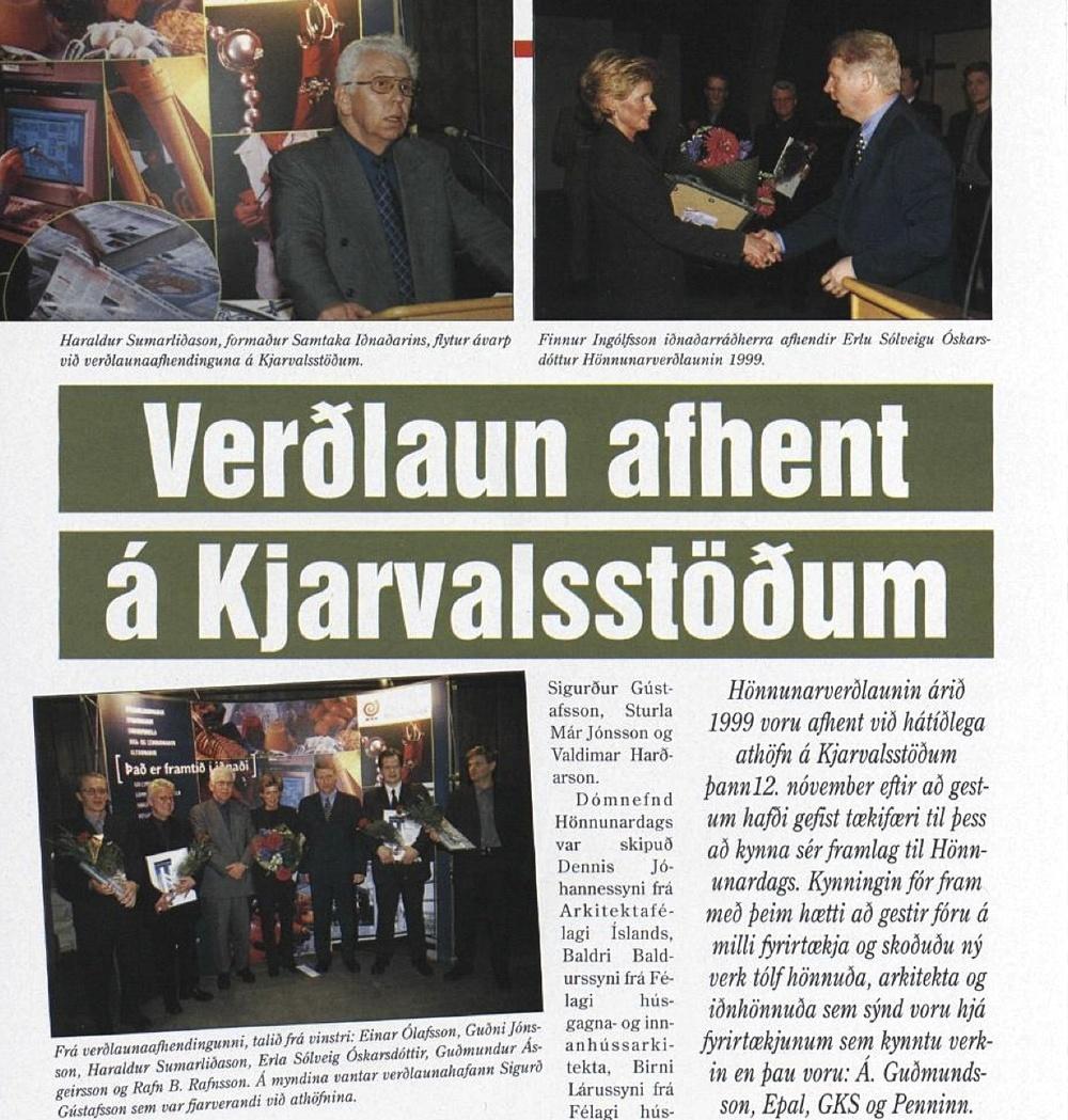 Design Award - Hönnunarverðlaun  1999