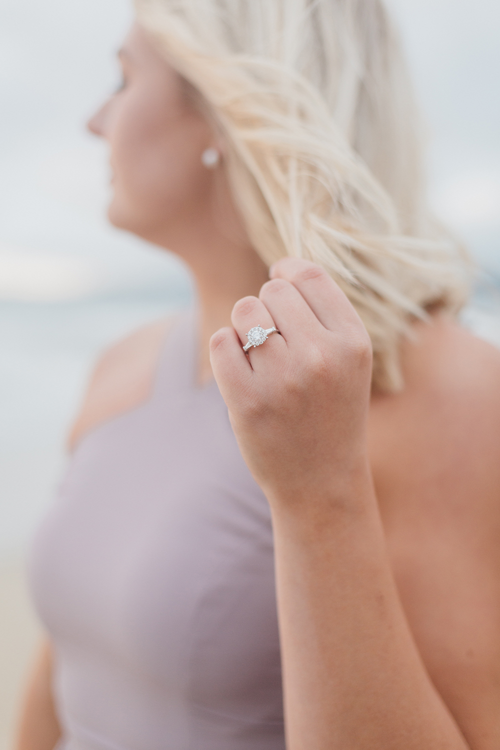 cori and andrew's engagement session photos in half moon bay california.
