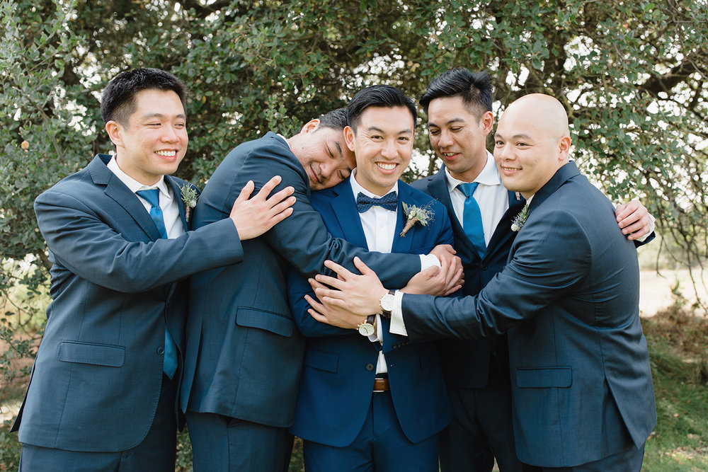 wedding photography of groomsmen at eagle vines golf club in napa california