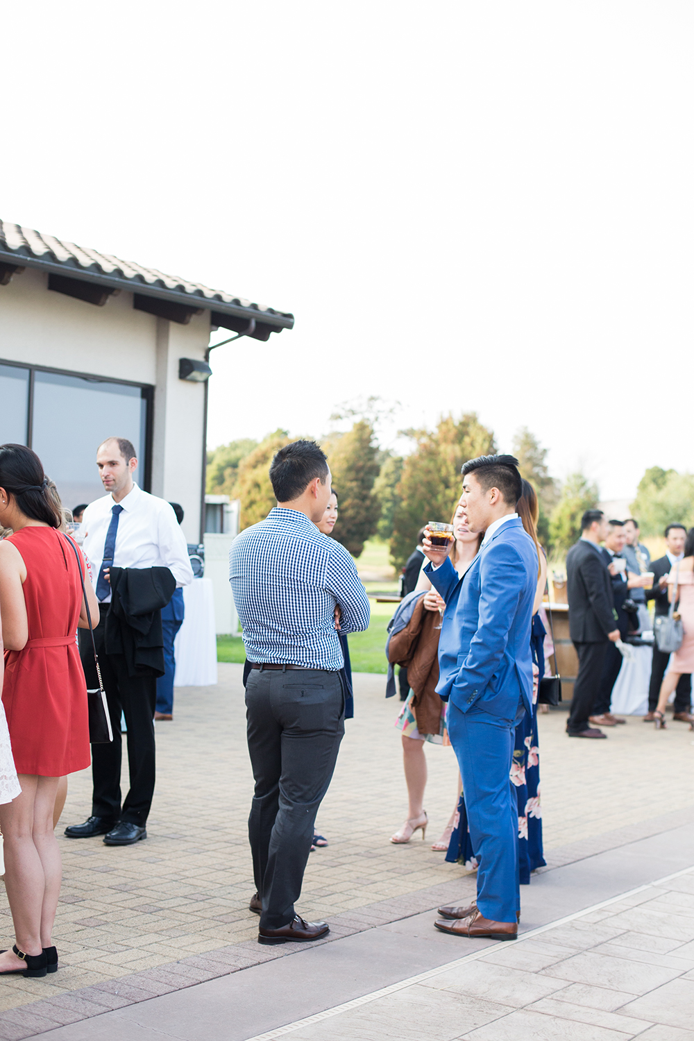 wedding photography of cocktail hour at eagle vines golf club in napa california