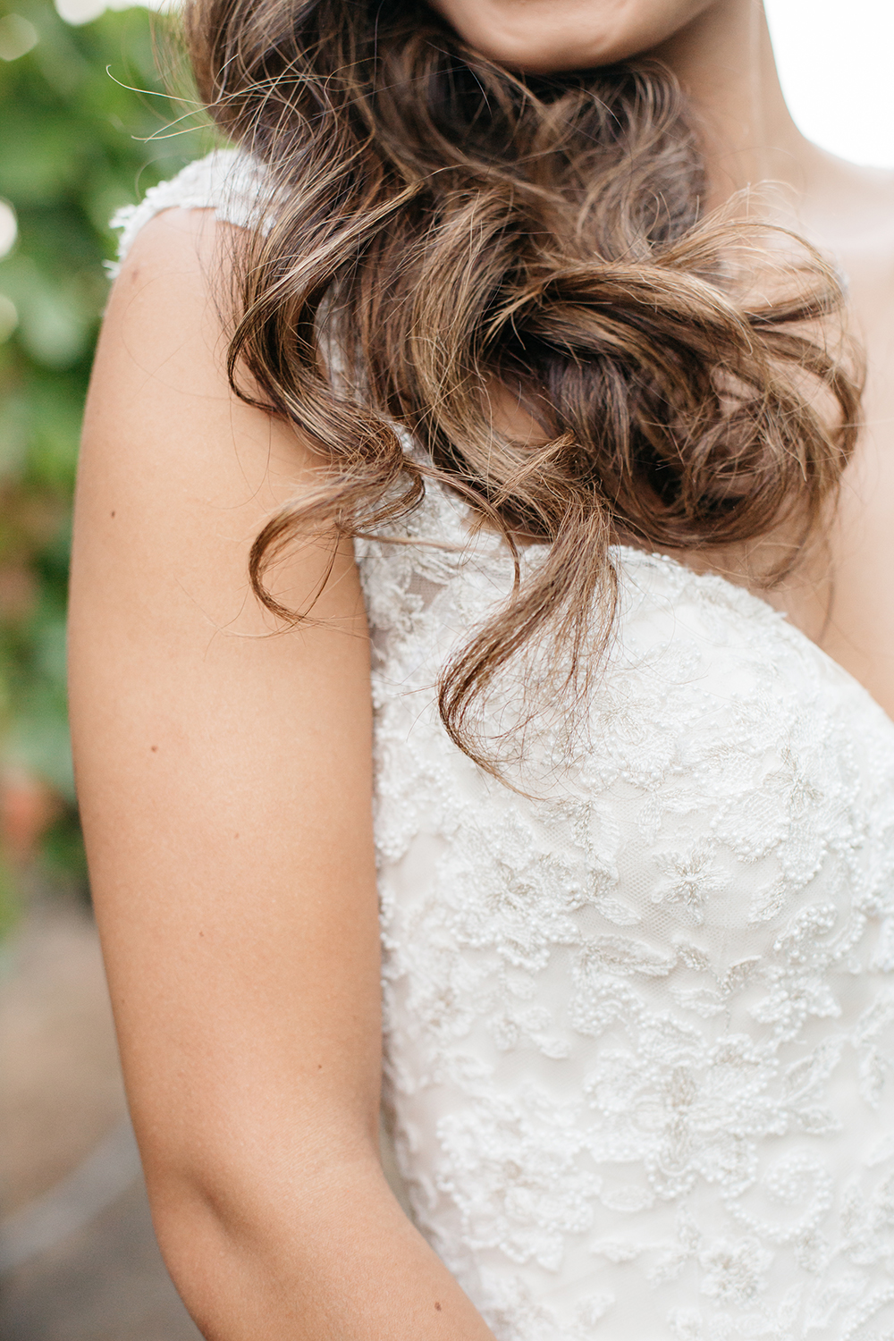 portrait of bride in vineyard wedding at eagle vines golf club in napa california