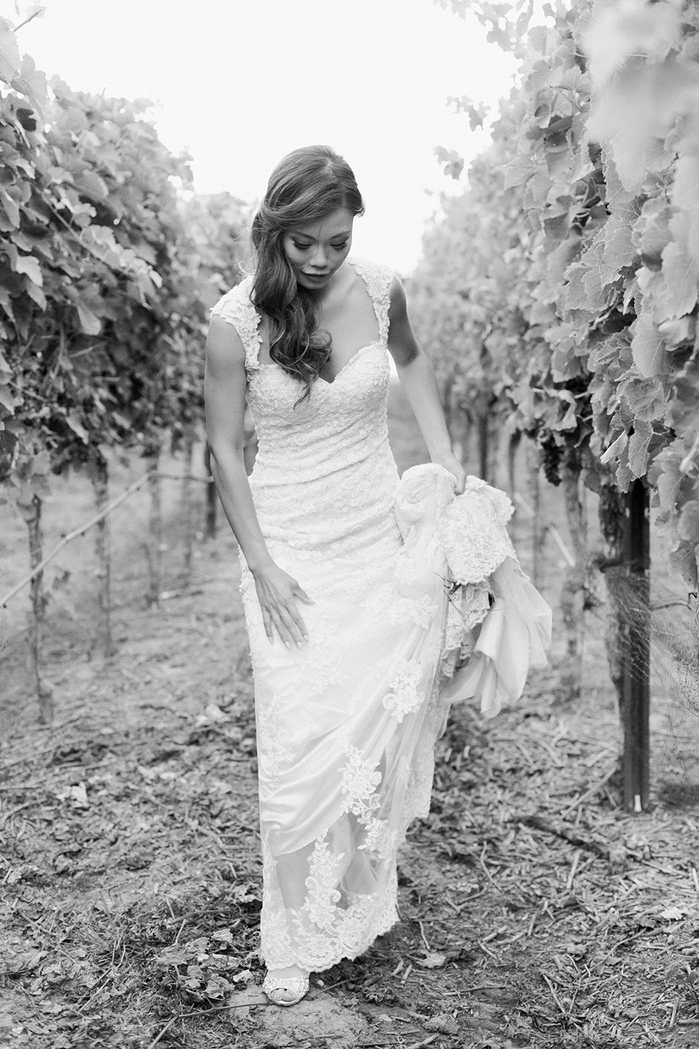 candid portrait of bride wedding at eagle vines golf club in napa california