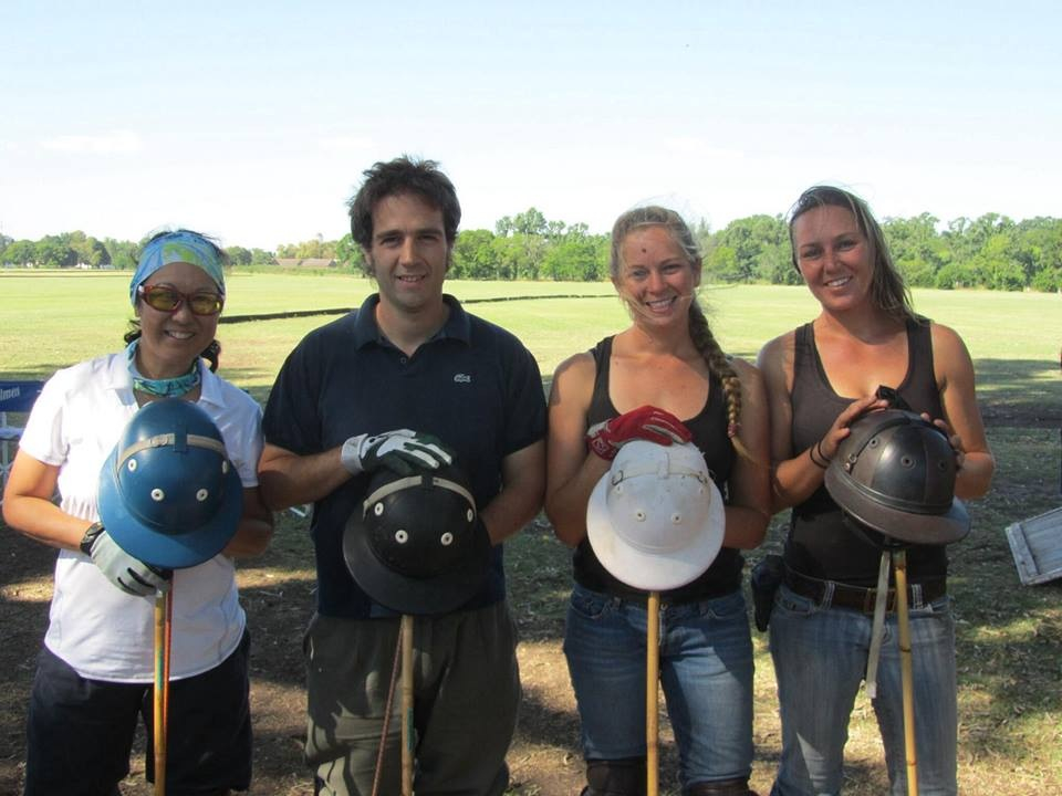 Margaret Cheng, Nicolas Butler (head of La Escondida Polo), Alyssa Barlow and Siri Masterson