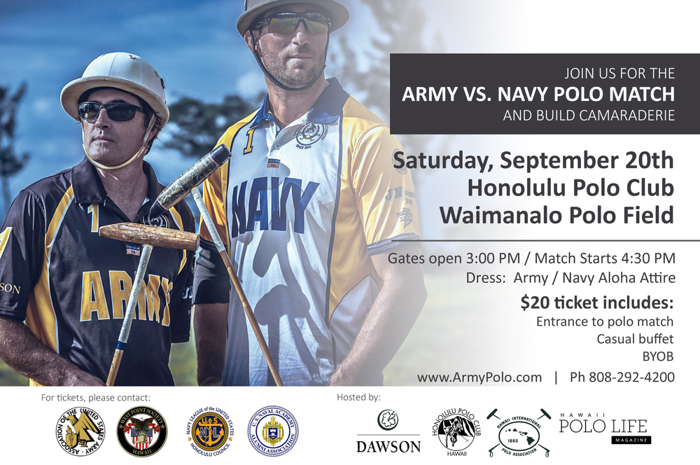 This fantastic day will be a PRIVATE event, please get your tickets ahead through one of the organizations. Check www.ArmyPolo.org for more details. Please come to support polo and the military men and women!